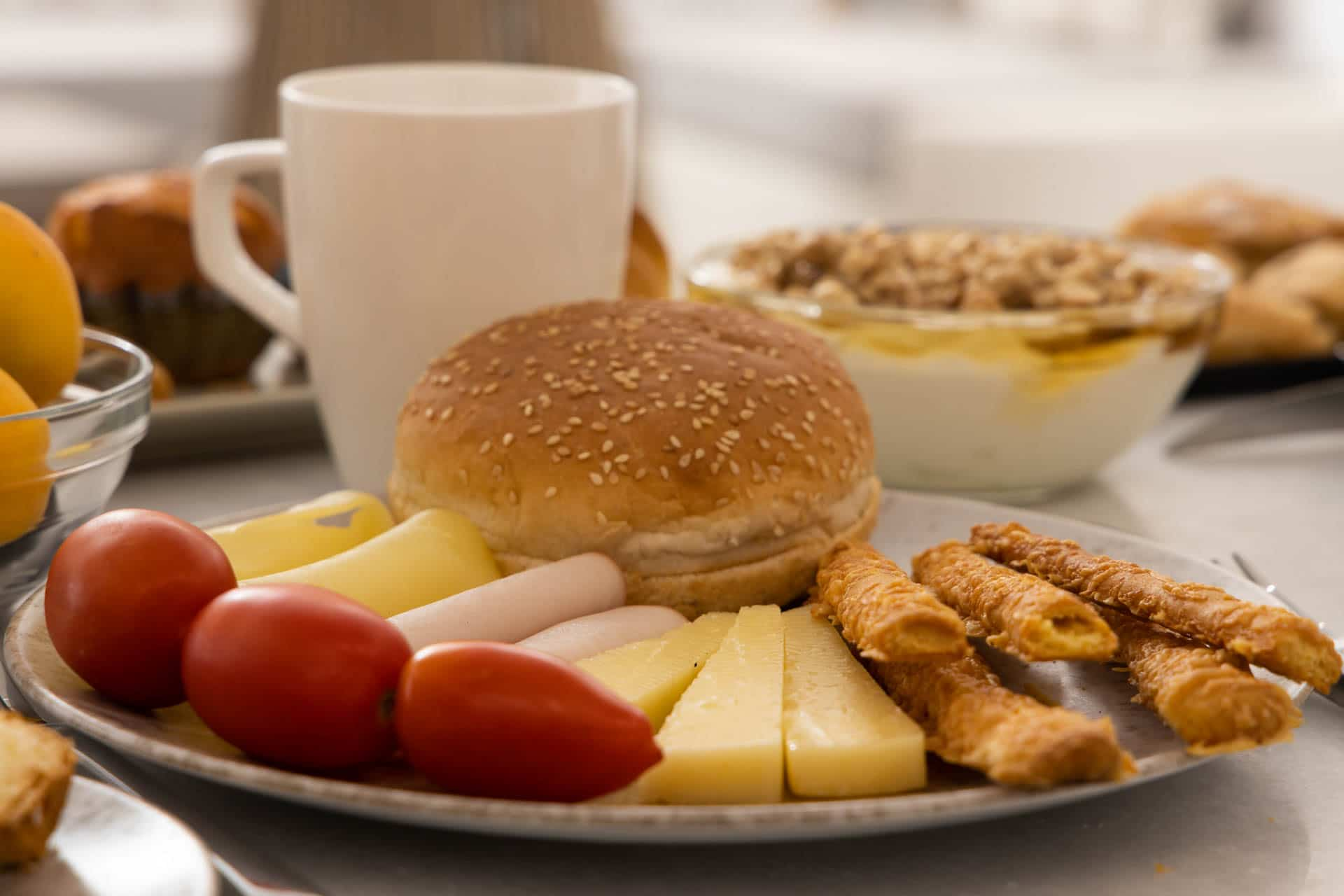 Traditional Greek Breakfast Buffet, Naxos Hotel Suites & Apartments